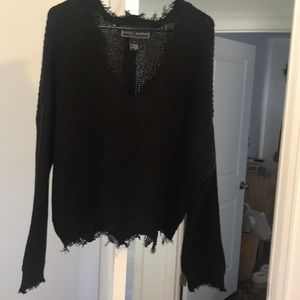 Boho frayed sweater
